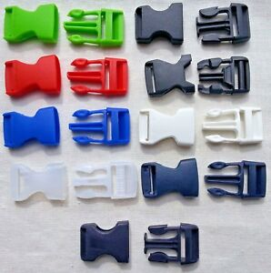 2-Plastic-Side-Release-Buckles-Fasteners-For-Webbing-Straps-20mm