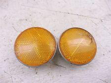 1975 honda xl70 enduro H1359~ front orange reflectors w mounts
