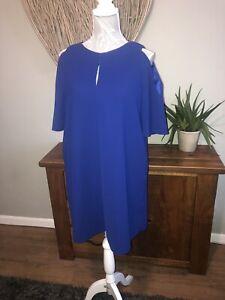Phase-Eight-Damas-Vestido-Azul-Purpura-Talla-12