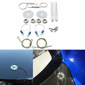 Car Muscle Plus Flush Hair Pin Style Hood Cover Latch Engine Cable Lock