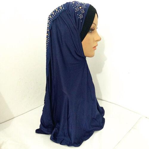 Muslim Amira Lace Hijab Turban Cap Scarf Jilbab Islamic Women Headwear Shawls