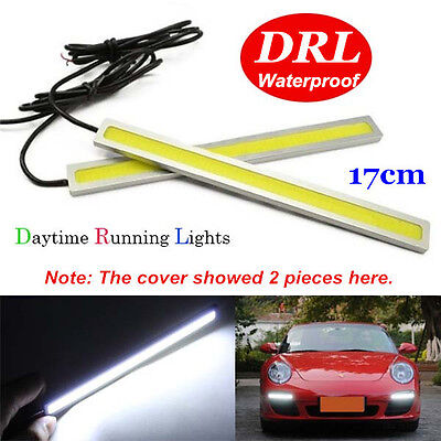 1PC 17CM White LED COB DRL Daytime Running Lights Auto Car Lamp