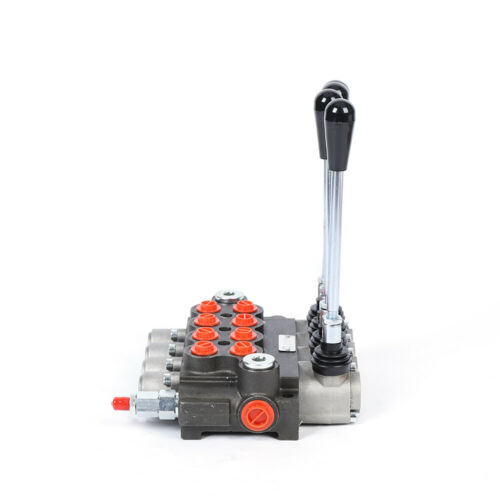 Hydraulikventil Steuerventil Betätigungshebel Wegeventil 4Spool 60 L min DHL