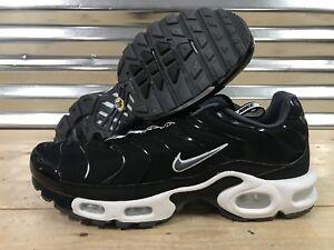 db3ae1613461 Nike Air Max Plus TN Tuned Pull Tab Running Shoes Black White SZ ...