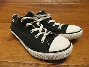 Converse Eur Lo Black 2 Canvas 38 Star Tongues Uk Ct All Size Trainers Casual 5 xrYwStqrOW