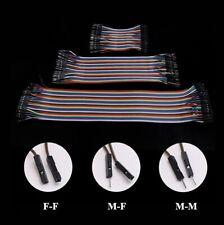 40p Dupont Jump Wire M F M M F F Jumper Breadboard Cable Arduino Ribbon Lead