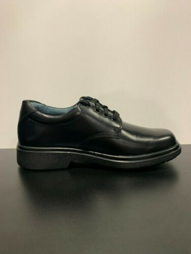 CLARKS Daytona Youth Black Leather School Shoes