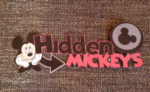Disney  Hidden  Mickey title printed scrapbook page die cut