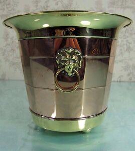 Dutch Antique Art Deco Brass Copper Planter Flower Pot Jardini Re Cache Pot Lion Ebay