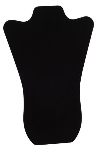 De Terciopelo Negro Acolchado Collar Cadena Colgante Busto Con Caballete 14 pulgadas de alto bd67-3