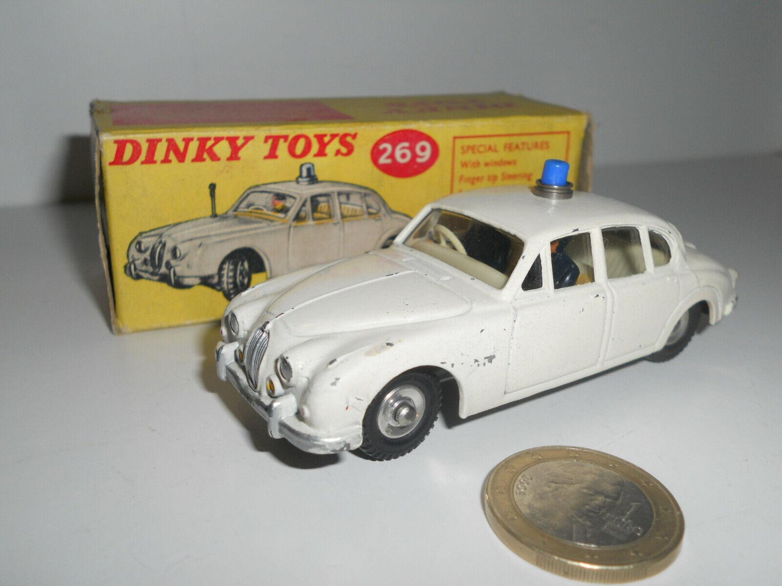 DINKY leksakS JAGUAR MOTORway POLICE CAR N RÖST