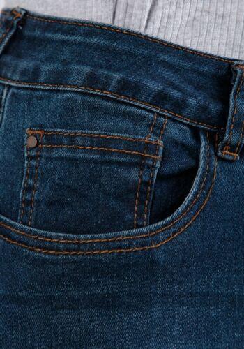 Ladies Raw Edge Cropped Jeans blue denim bootcut jeans sizes stretch denim