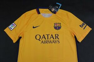 58b08b703ac Image is loading Barca-2015-2016-nike-FC-Barcelona-Away-Orange-