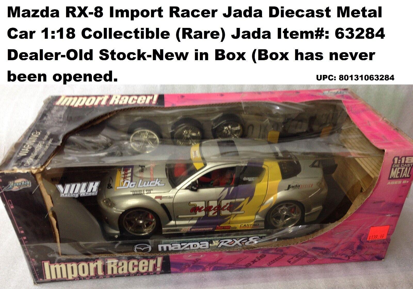 Mazda RX-8 importación Racer Jada Diecast metal coche 1 18 Coleccionable (proveedor de EE. UU.)