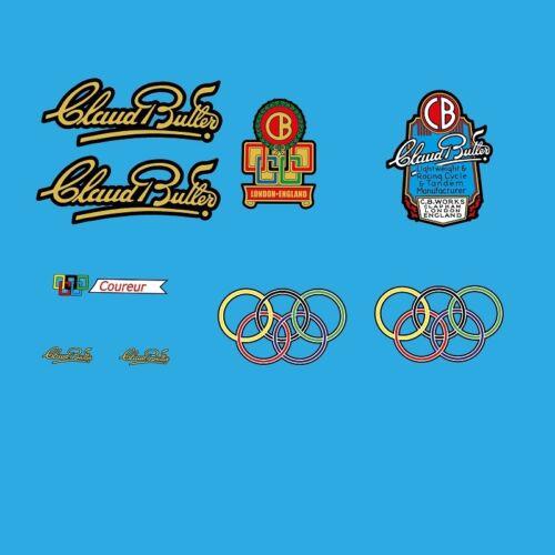 Claud Butler Coureur bicycle decals Pegatinas N.20 Transfers