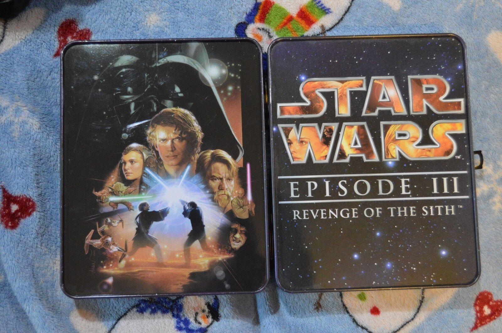 Star Wars Revenge Of The Sith  3 Commemorative Tin Collection COMPLETE BONUS