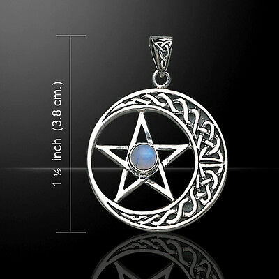 Celtic Shamrock .925 Sterling Silver Pendant Choice of Gemstone by Peter Stone