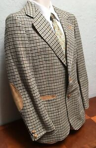 Vintage Austin Reed 2 Button Sport Coat Blazer Jacket Suede Elbow Pockets Men 40 Ebay