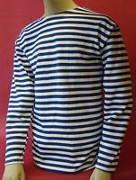 Russian Winter Telniashka Prirtymail Fromusa Blue Striped Shirt Ussr Navy Sailor