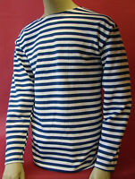 Russian Winter Telniashka Prirtymail Fromusa Blue Striped Shirt Ussr Navy Sailor