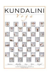 Image Is Loading Kundalini Yoga Poster Poses Posture Chart Print