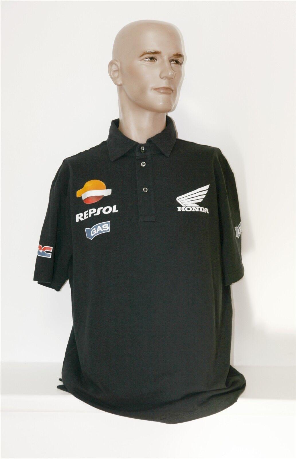 Honda Repsol Herren Gas Poloshirt Gr. XXXXL schwarz