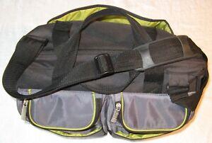 Jeep-Baby-Travel-Bag-Black-with-Green-Trim-Duffel-Diaper-Bag-L5