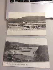 2 Postcards Cooperstown,NY~ Otsego Lake Boat Landing & Pleasure Boats