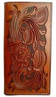 Nocona Western Mens Wallet Rodeo Leather Pro Tooled Rich Earth N5439008