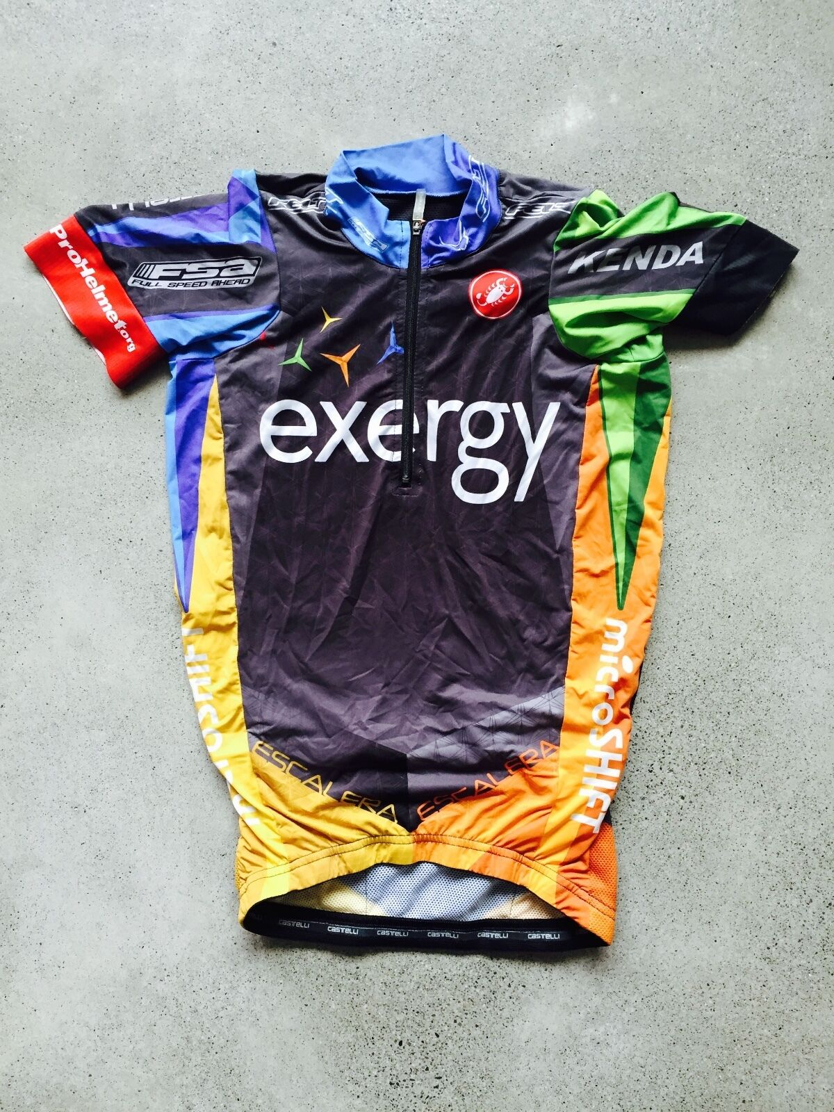 Team Exergy  Pro Cycling Team Short Sleeve Jersey by Castelli X Small  order now
