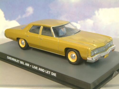 Autos Druckguss 1/43 James Bond 007 Chevrolet Bel Luft Gold von Live And Let die Dy124