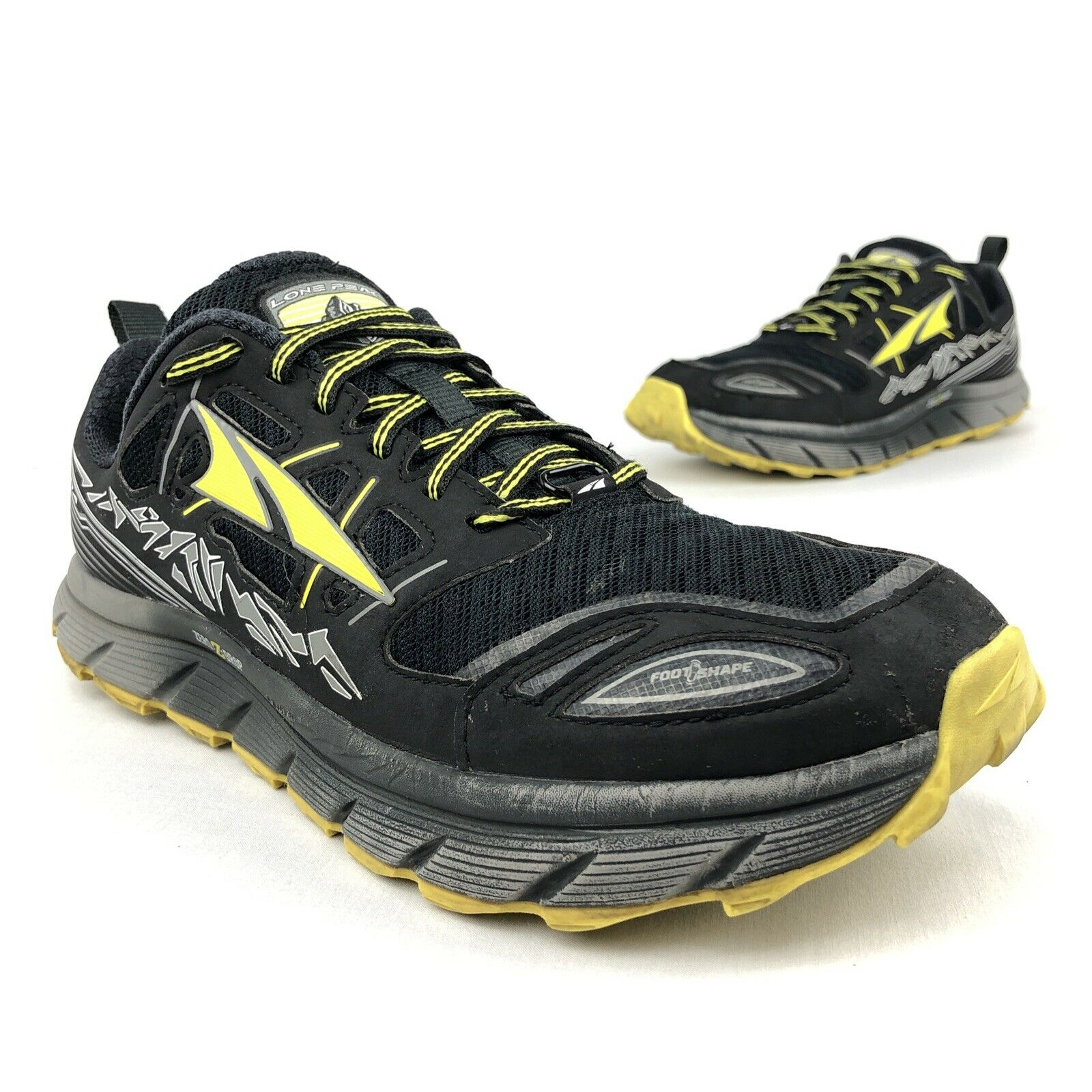 Altra Lone Peak 3 0 Trail Running Shoes Zero Drop Black Yellow A1653 Men S Sz 9 For Sale Online