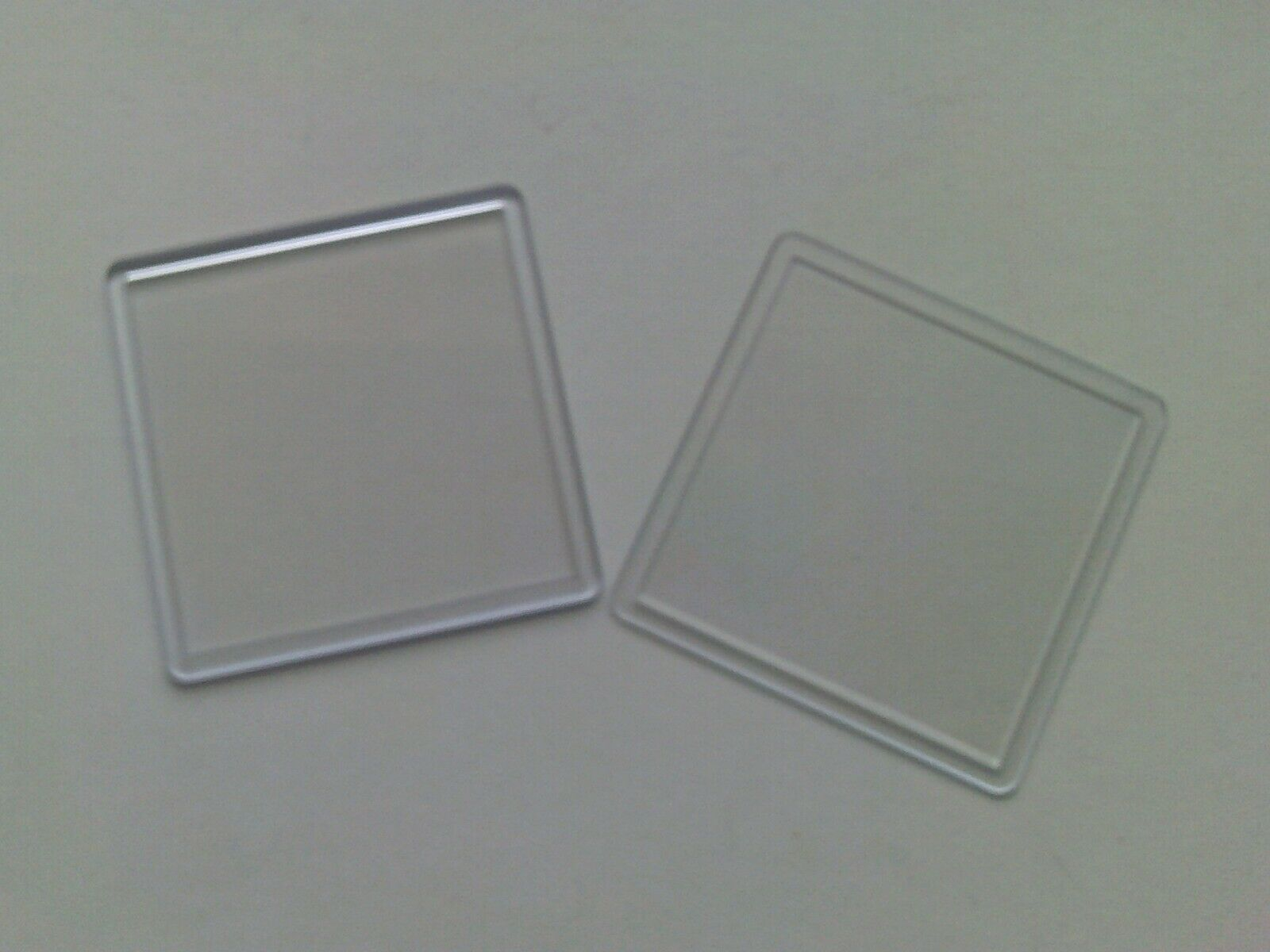 90mm x Insert N1 10 Blank Acrylic Clear Plastic Drinks Coasters