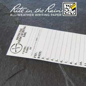 20-x-NEW-GEOLoggers-SMALL-4-5cm-Geocaching-Log-Sheet-Rite-in-the-Rain