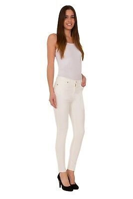 Ex Per Una M/&S Ladies Ivory Skinny Mid Rise Casual Jeggings Jeans Size 10-18