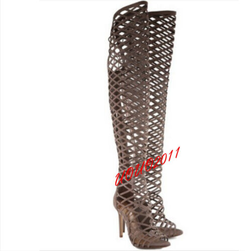 Chic Women Lady Summer Over Knee High Boots Stiletto Thigh High Roma Sandals New