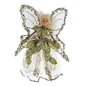 Katherines-Coll-9-034-Fairy-Green-Garden-Pixie-Sprite-Christmas-Tree-Ornament-Doll