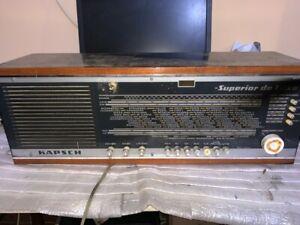 VINTAGE-VALVULA-RADIO-KAPSH-Superior-de-Luxe-II-2-PARA-RESTAURAR-1967