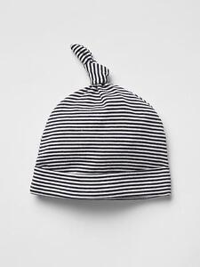 58049402391 GAP Baby Boys Size Newborn Navy Blue   White Cotton Striped Knot Hat ...