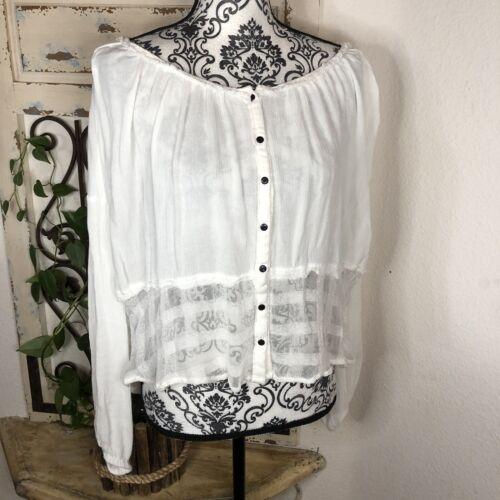 Free people lacey boho gypsy blouse XS Oversized