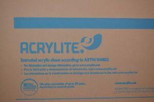 """ACRYLIC SHEET CLEAR  ACRYLITE FF 1/4"""" x 48"""" x 12"""""""
