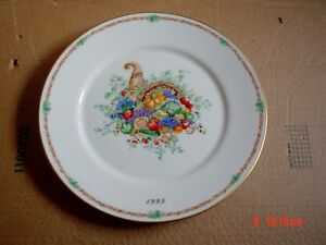 Large-Lenox-Limited-Edition-Collectors-Plate-AMERICAS-BOUNTY-THANKSGIVING-1995