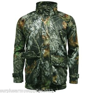 Mens Waterproof Camouflage Jacket Mossy Oak Camo Hunting|Fishing|Shooting Jacket