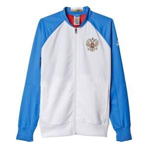 Adidas-para-hombre-Rusia-RFU-futbol-Himno-Chaqueta-de-pista-de-Moda-Casual-Deporte-Gimnasio