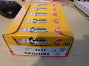NOS NEW NGK Spark Plug Plugs Box of 10 BPR6HSA