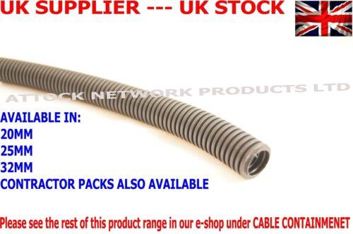 32mm 25mtr CONDUIT COPEX FLEXIBLE POLYPROP PVC BLACK LSZH