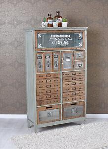 Superbe Das Bild Wird Geladen Vintage Kommode Loft Moebel  Apothekerschrank Industrial Schrank Hochkommode