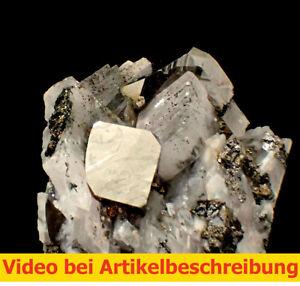 6568-Carrollite-carrollit-Calcite-Kamoya-South-Zaire-DRC-ca-4-4-4-cm-MOVIE