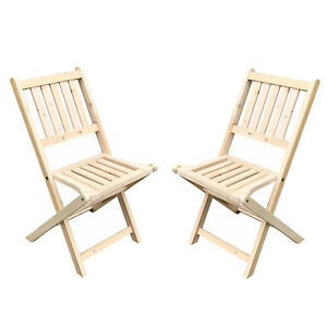 Image Is Loading 2PCS Wooden Folding Chair Outdoor Indoor Garden Wood