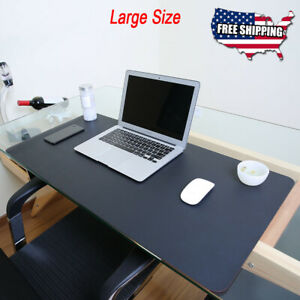 Delicieux Image Is Loading Non Slip PU Leather Office Desk Protector Mat